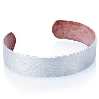 Handmade Malian Refugee Hammered Aluminum Thin Cuff Bracelet (Burkina Faso)
