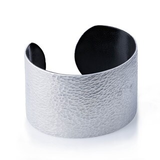 Hand-crafted Hammered Aluminum Wide Cuff Bracelet (Burkina Faso)