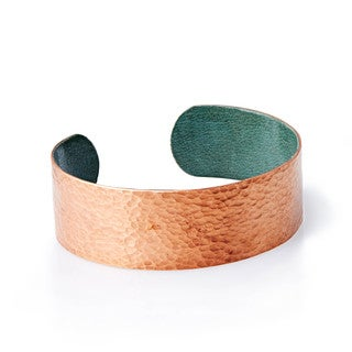 Malian Refugee- Handmade Hammered Copper Medium Cuff Bracelet (Burkina Faso)