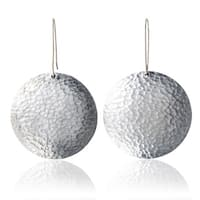 Handmade Malian Refugee - Hammered Aluminum Round Earrings (Burkina Faso)