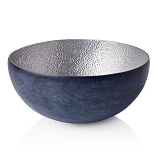 Malian Refugee Handmade Classic Medium Decorative Hammered Aluminum Bowl (Burkina Faso)