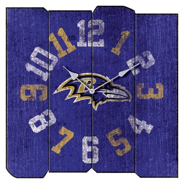 Ravens Vintage Square Clock