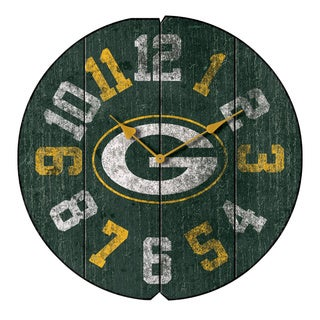 Vintage Round Clock GB Packers