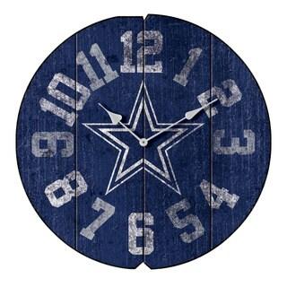 Vintage Round Clock Cowboys