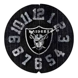 Vintage Round Clock Raiders