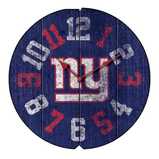 Vintage Round Clock NY Giants
