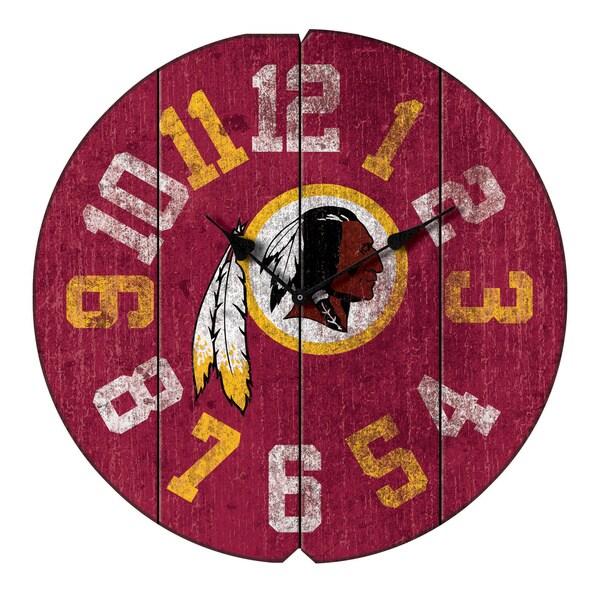 Vintage Round Clock Redskins