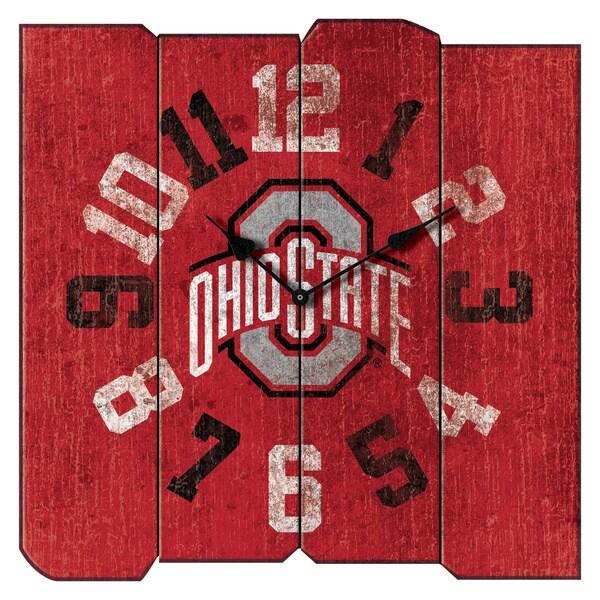 Ohio State Vintage Square Clock
