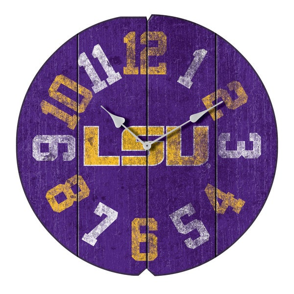 Louisiana State U Round Clock