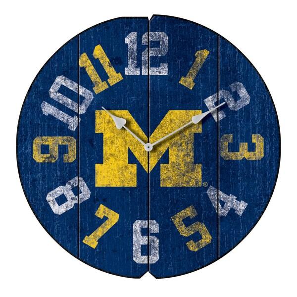 University Michigan Round Clock