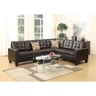 Berd Sectional Sofa Upholstered in Bonded Leather