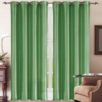 Simple Elegance New York Faux Silk Window Curtain Panel