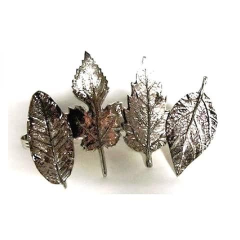 Heim Concept Assorted Leaf Napkin Rings set of 4