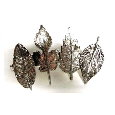 Heim Concept Assorted Leaf Napkin Rings set of 4