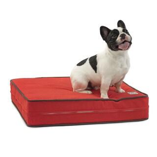 Sunset Red Gel Memory Foam Orthopedic Dog Bed