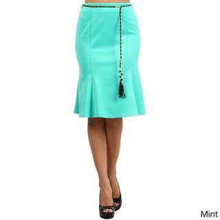 Women's Abstract Elastic Skirt