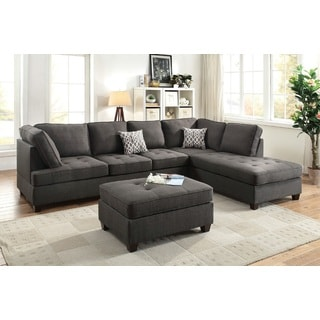 Abovyan Sectional Sofa Upholstered in Dorris Fabric