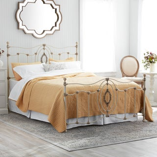 Ashdyn Metal Bed with White Finish, Queen