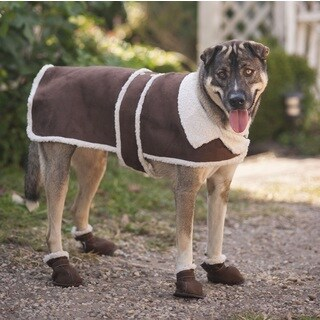Ethical Pet Shearling Brown Dog Coat