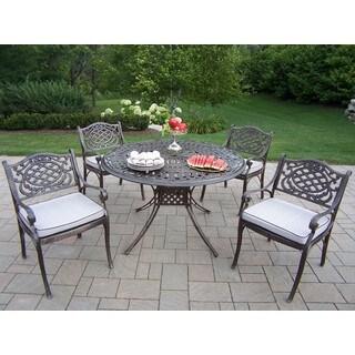 Dakota Outdoor 5-piece Cushioned Cast Aluminum Round Dining Set