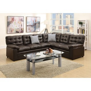 Jermuk Sectional Sofa Upholstered in Bonded Leather