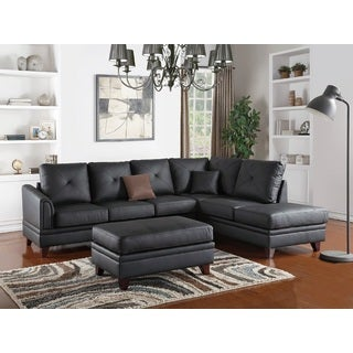Hrazdan Sectional Sofa Upholstered in Genuine Leather
