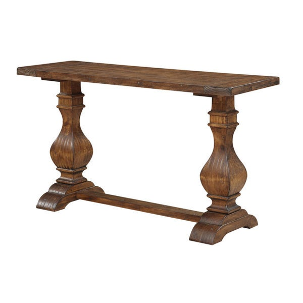 Rustic Pine Sofa Table: Shop Emerald Home Chambers Bay Rustic Pine Sofa Table