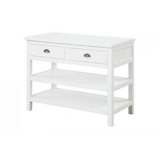 Megan White Contemporary Sofa Table