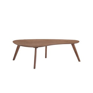 Emerald Home Walnut Mid-Century Teardrop Coffee Table