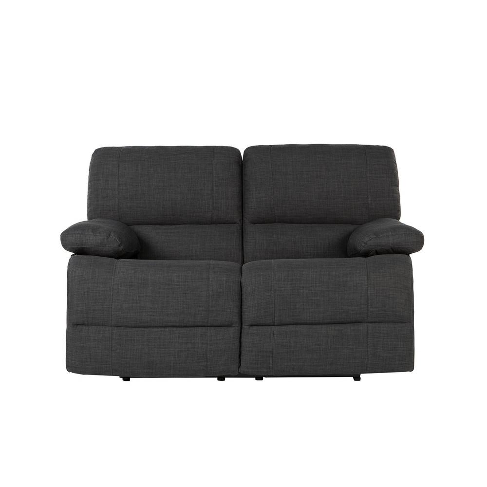 Sensational Traditional Dark Grey Fabric Oversize Recliner Loveseat Unemploymentrelief Wooden Chair Designs For Living Room Unemploymentrelieforg
