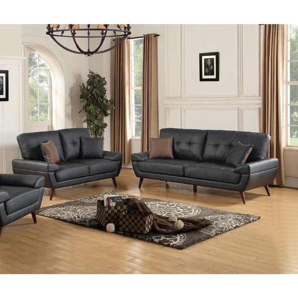 Awe Inspiring Shop Ararat Loveseat And Sofa Upholstered In Genuine Leather Unemploymentrelief Wooden Chair Designs For Living Room Unemploymentrelieforg