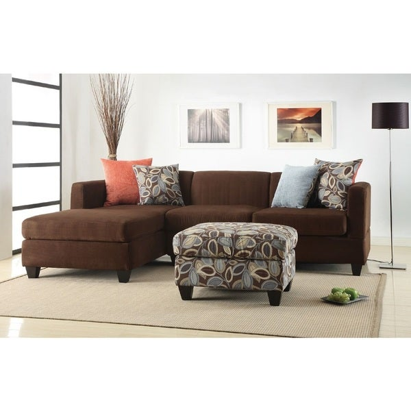 Shop Goris Sectional Sofa Upholstered In Microfiber Free