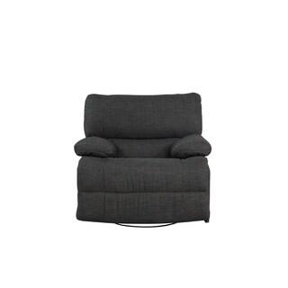 Traditional Dark Grey Fabric Oversize Recliner