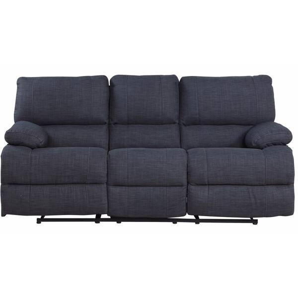 Traditional Dark Grey Fabric Oversize Recliner Sofa