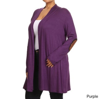 MOA Collection Women's Plus-size Multicolor Rayon and Spandex Cardigan (3 options available)