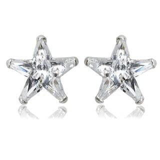 Avanti Sterling Silver Cubic Zirconia Star Shape Stud Earrings
