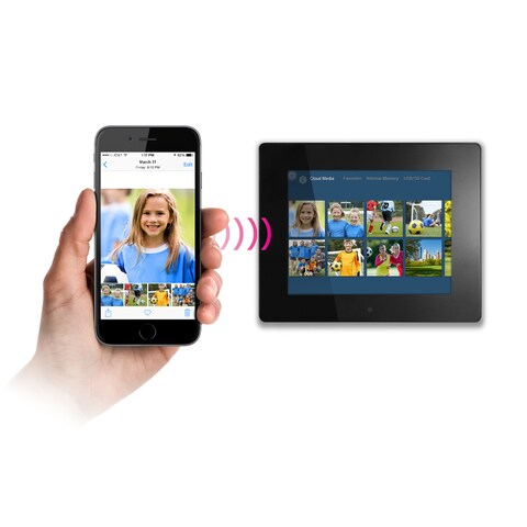 """Aluratek 8"""" Wi-Fi Digital Photo Frame with Touchscreen LCD Display"""