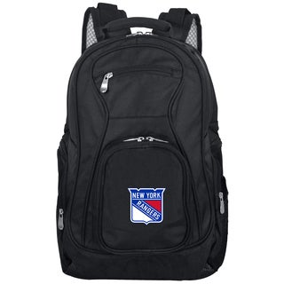 Denco Sports Mojo New York Rangers Premium Black Ballistic Nylon 19-inch Laptop Backpack