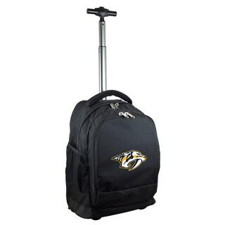 Mojo Nashville Predators Premium Black Wheeled backpack