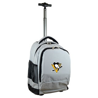 Denco Sports Mojo Pittsburgh Penguins Premium Grey Wheeled Backpack