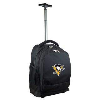 Denco Sports L780 Series Mojo Pittsburgh Penguins Black Ballistic Nylon Wheeled Backpack