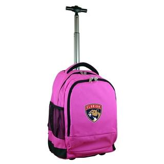 Mojo Florida Panthers Premium Pink Wheeled Backpack