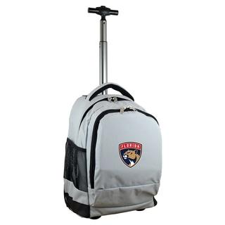 Denco Sports Mojo Florida Panthers Grey Nylon Wheeled Backpack