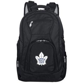 Denco Sports Mojo Toronto Maple Leafs Premium Black Nylon 19-inch Laptop Backpack
