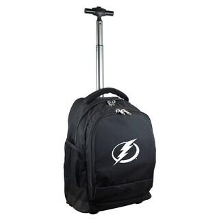 Denco Sports Mojo Tampa Bay Lightning Black Nylon/Denim Wheeled Backpack