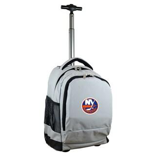 Mojo New York Islanders Premium Grey Wheeled Backpack