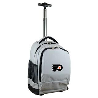 Denco Sports Mojo Philadelphia Flyers Premium Grey Wheeled Backpack