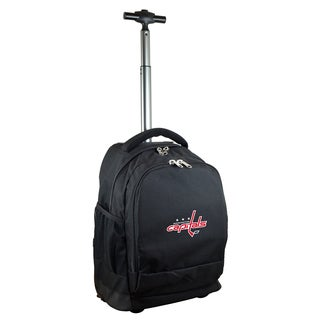 Denco Sports Mojo Washington Capitals Premium Black Nylon Wheeled Backpack