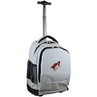 Denco Sports Mojo Phoenix Coyotes Premium Grey Wheeled Backpack
