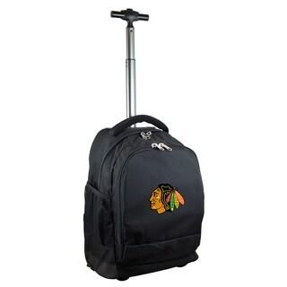 Denco Sports Mojo Chicago Blackhawks Premium Black Wheeled Backpack